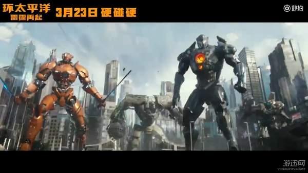 《环太平洋2》新中文预告 机甲热血归来与怪兽硬碰硬