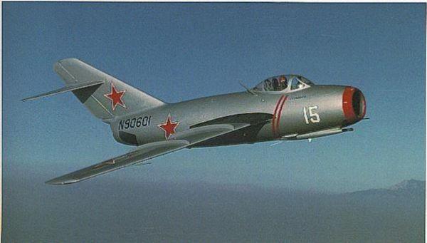 图为米格-15战斗机