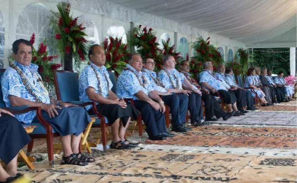 2017年9月5日,太平洋岛国论坛领导人会议在萨摩亚首都开幕。新华社/法新