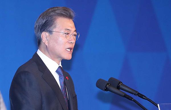 韩国总统文在寅。视觉中国 图