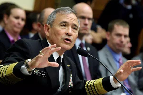 ▲资料图片:美国太平洋司令部司令、海军上将哈里・哈里斯(路透社)