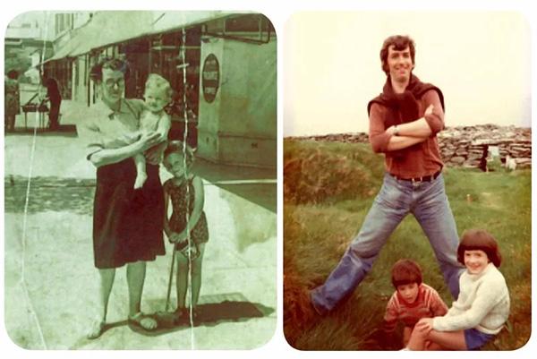 参与该试验的成员在婴儿时(左)与30年后(右)的对照图。
