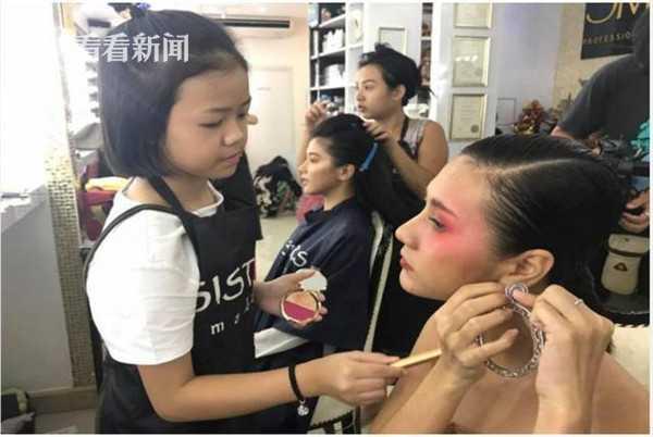 视频|厉害了!泰国11岁女孩成伦敦时装周化妆师