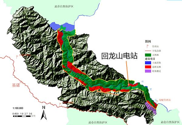 回龙山电站位置示意图。受访者供图