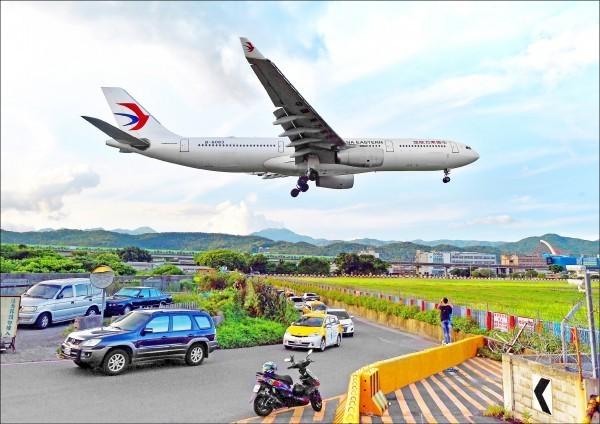 """台""""民航局""""暂不核准176班两岸春节加班机申请。(图为中国东方航空)"""