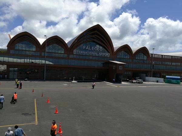 中国援建的萨摩亚法莱奥洛机场新航站楼