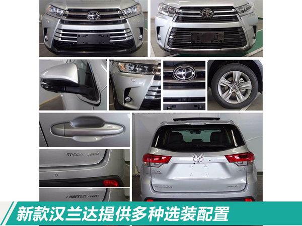广汽丰田新汉兰达SUV价格曝光 起售或涨7千元
