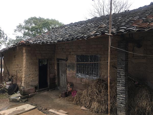 在刘强东寻祖前,去年,冯小刚曾到花石镇涓江村祭祖。图为冯小刚家在村里的老宅。澎湃新闻记者 罗杰 图