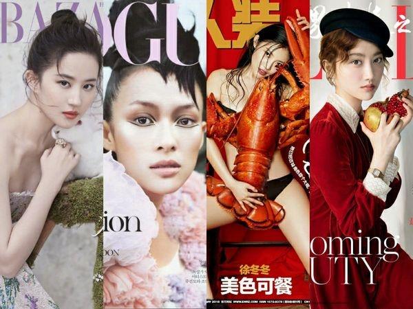 刘亦菲章子怡徐冬冬景甜 那些极具创意的杂志封面