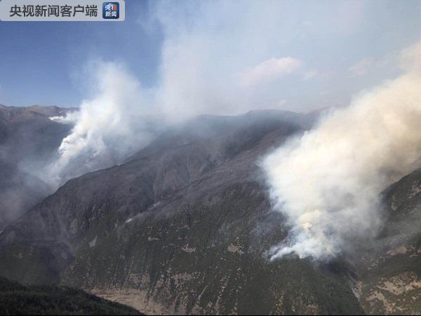 四川雅江县森林火灾现场突起大风 过火面积达66公顷