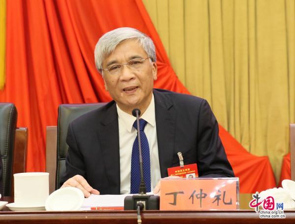 民盟新一届中央委员会主席丁仲礼。 中国网 图