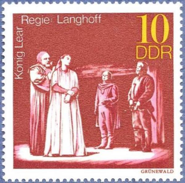 《李尔王》故事相关邮票