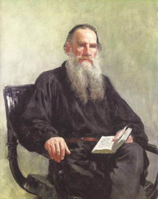 俄罗斯油画家列宾笔下的托尔斯泰图片