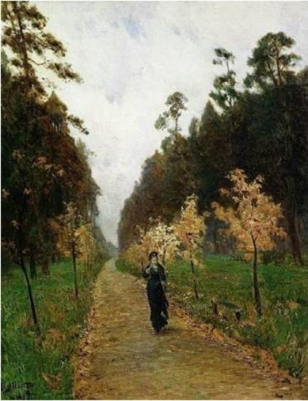 列维坦,《索科尔尼克的秋天》,1879年,莫斯科特列恰科夫美术博物馆藏