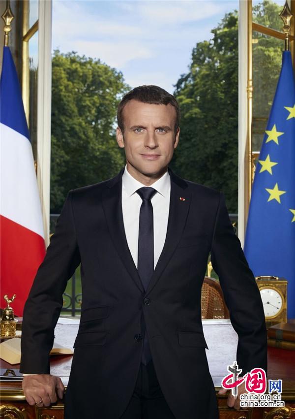 法国总统马克龙(来源:法兰西共和国总统府 Soazig de la Moissonniere摄)