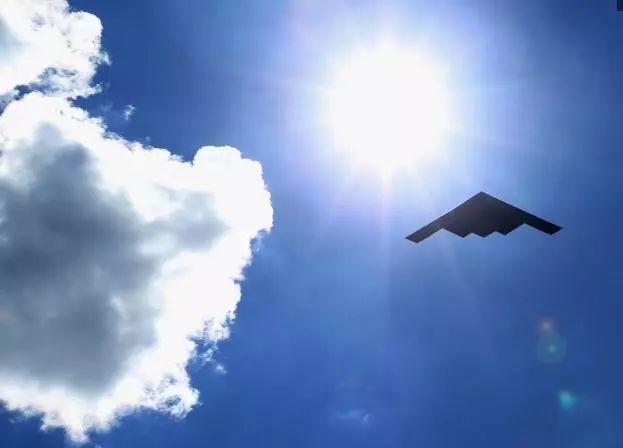 """▲美国B-2""""幽灵""""轰炸机"""