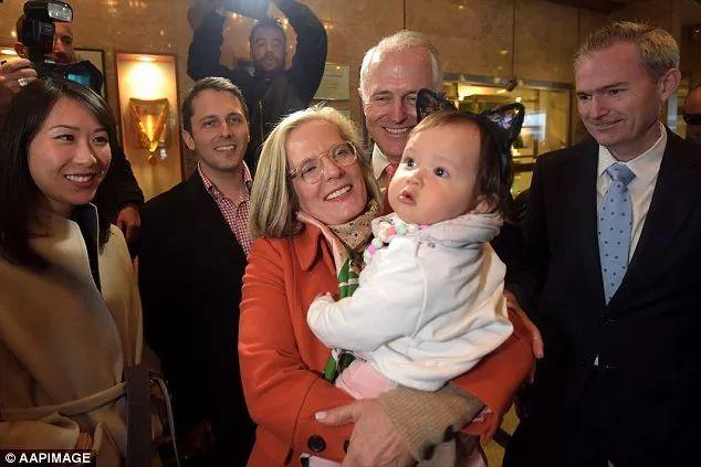 ▲左一为澳大利亚总理特恩布尔的中国儿媳妇。(澳大利亚联合新闻社)