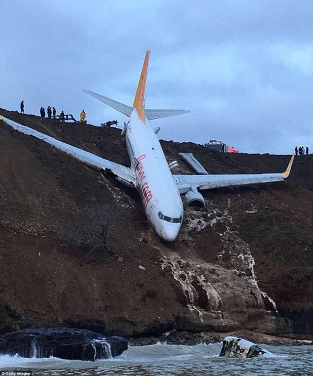 香港马会开奖记录机场跑道结冰土耳其客机降落时滑出险些坠海