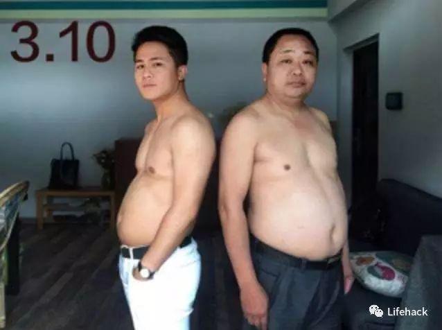这家人减肥对比照火了 啤酒肚变6块腹肌只用半年