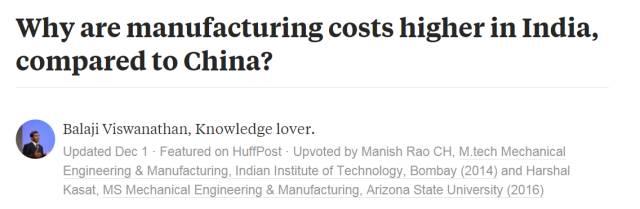 这篇中印制造业对比文章在美国火了 数百万人阅