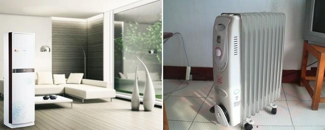 空调制热比电暖气更为节能