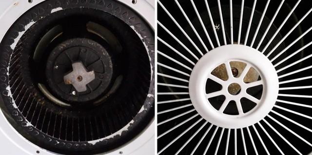 洗碗机清洁后的风轮和滤网也非常洁净
