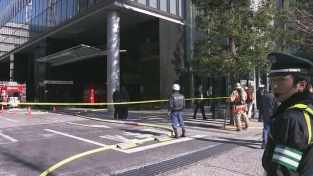 日本经济新闻总部大楼发生火灾 一名男子死亡