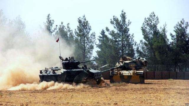 """土耳其炮击叙利亚库尔德武装!""""蛋糕""""被动与"""
