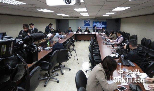 """国民党4日召开记者会,痛批""""促转条例""""。(图片来源:中评社)"""