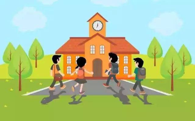 孩子老师奔跑拥抱卡通