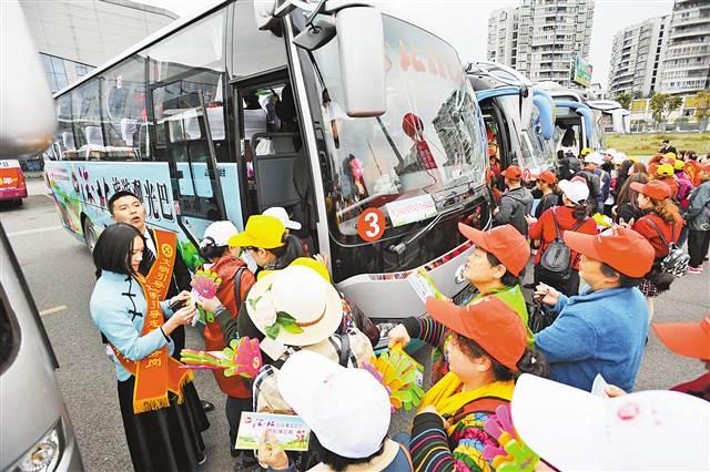 """""""春游渝北"""" 3条旅 游观不雅观光巴士线路开通"""