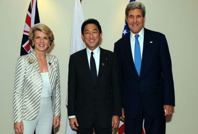 ▲图为澳大利亚、日本和美国三国政府