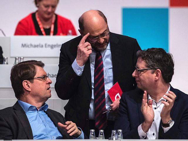 德国社民党领导人与默克共15k