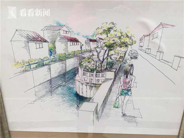 申城河道大整治见成效 学生手绘作品记录全过程