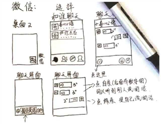 女大学生手绘说明书教奶奶玩智能手机 网友纷纷点赞