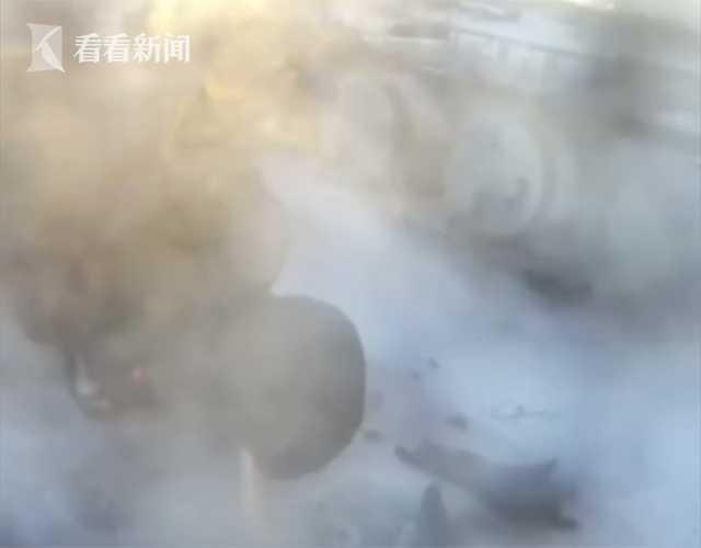 视频|瞬间爆炸!用明火解冻罐车出油口 两男子被炸飞