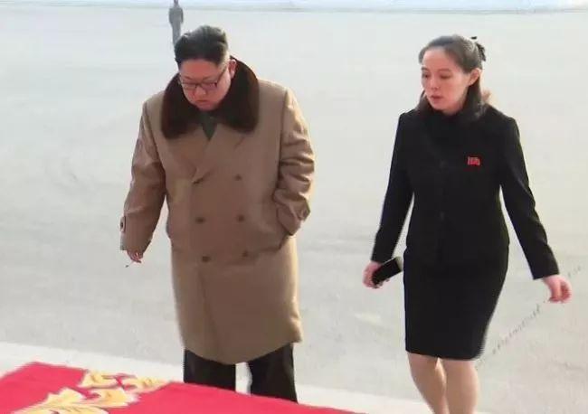 ▲金正恩与妹妹金与正(韩联社)