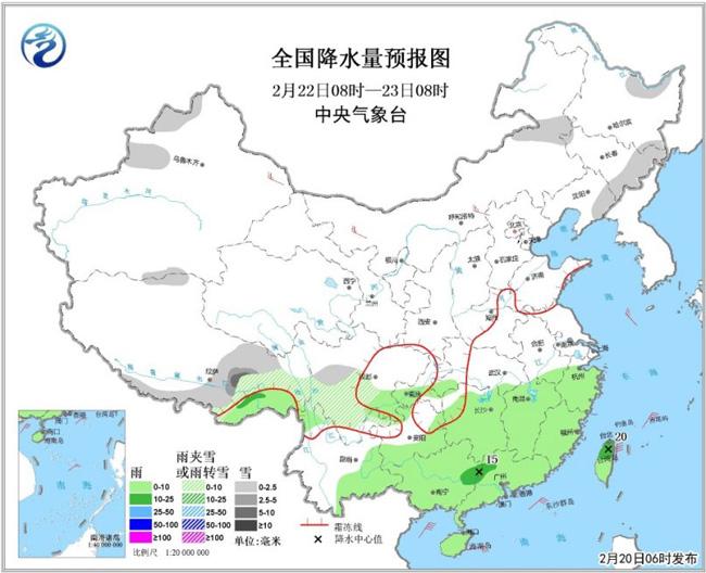 江汉江淮江南多阴雨天气 我国大部将有冷空气活动