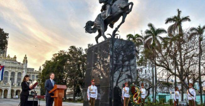 纽约向哈瓦那捐古巴英雄雕像 纪念其诞辰