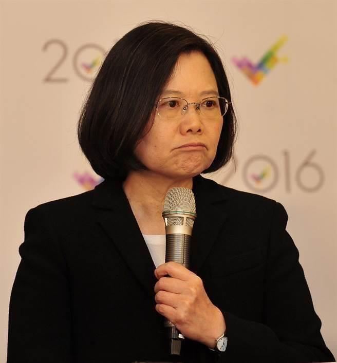 """台湾地区领导人蔡英文在大陆论坛上获得出人意料的""""支持率""""(图片来源:""""中时电子报"""")"""