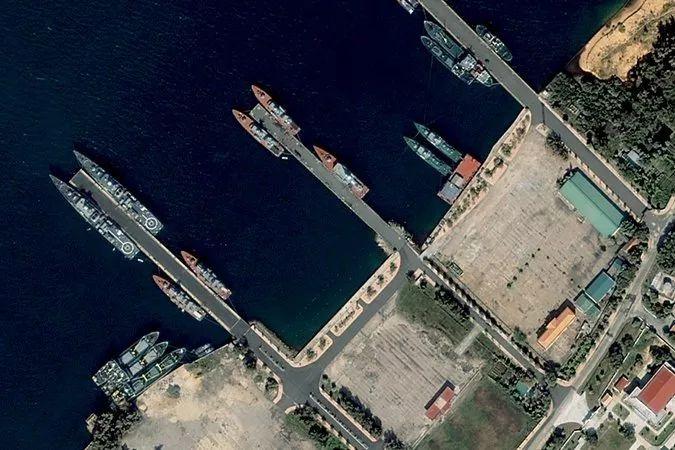 ▲卫星拍摄的越南金兰湾(盖帝图像)
