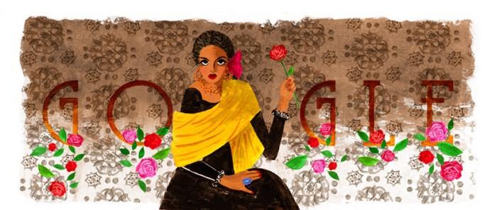 Google Doodle纪念好莱坞拉丁裔女星凯蒂·乔拉杜诞辰94周年