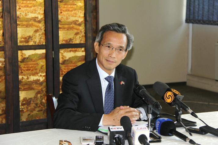 3月12日,中国驻南非大使林松驳斥美方对中非互利合作的不实言论。 李志伟摄