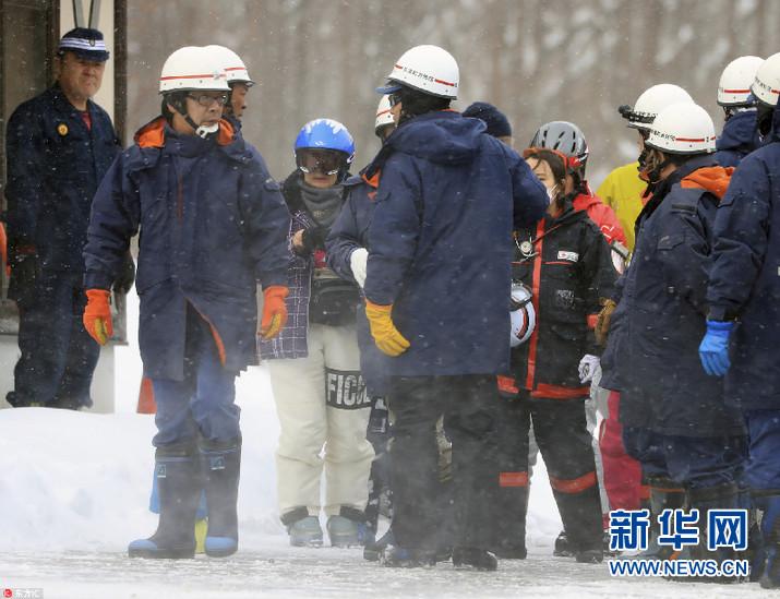 日本发生雪崩和火山喷发 致1人死11人伤