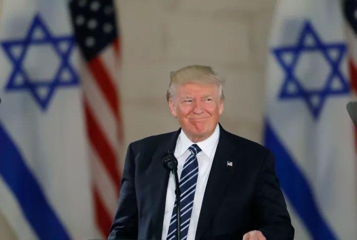 △2017年5月,美国总统特朗普在以色列博物馆发表讲话。(图/视觉中国)