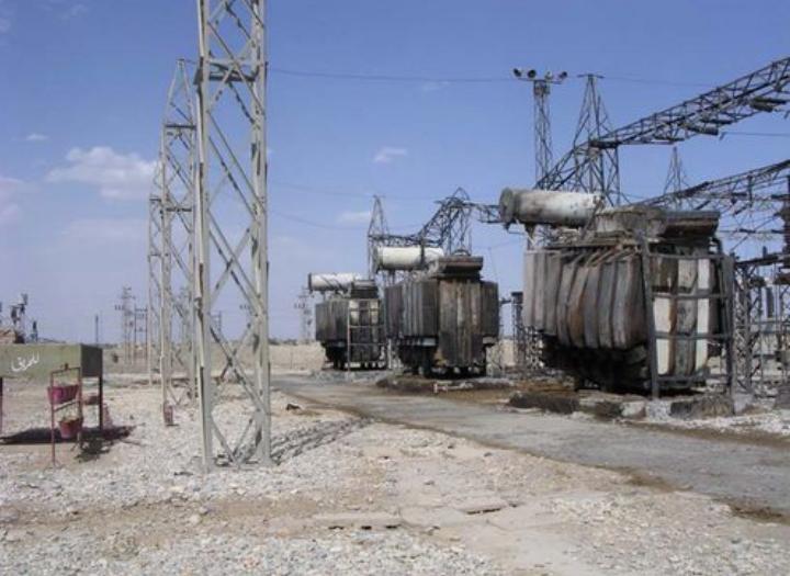 被美军石墨炸弹攻击过的伊拉克发电站