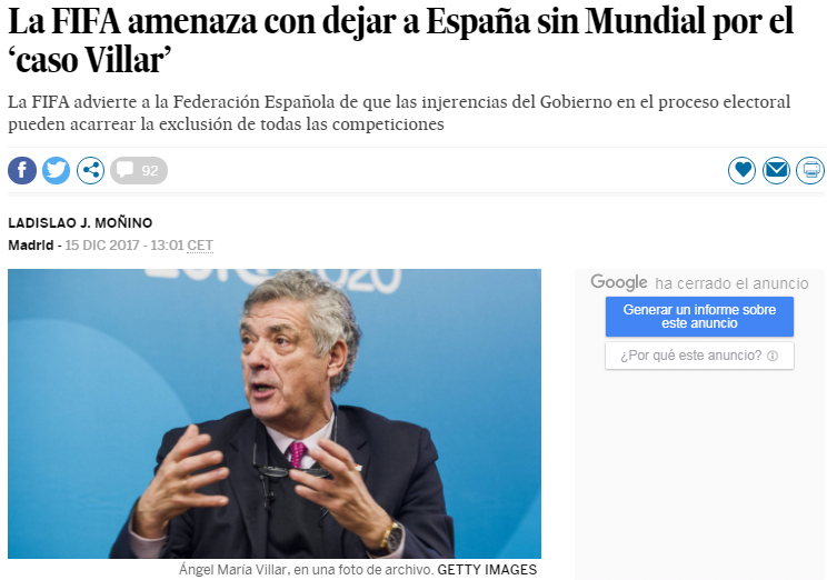 西班牙为什么被FIFA禁赛