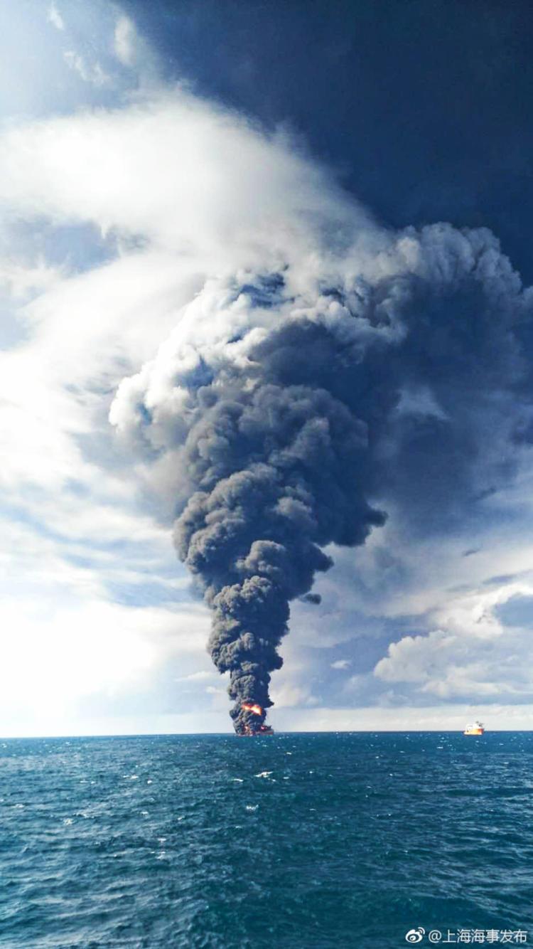 桑吉号油轮爆炸沉没,它对环境造成的影响可能会长达数十年