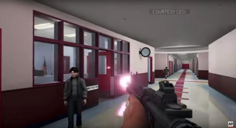 美国政府开发了一套模拟器,想让老师体验校园枪击案现场