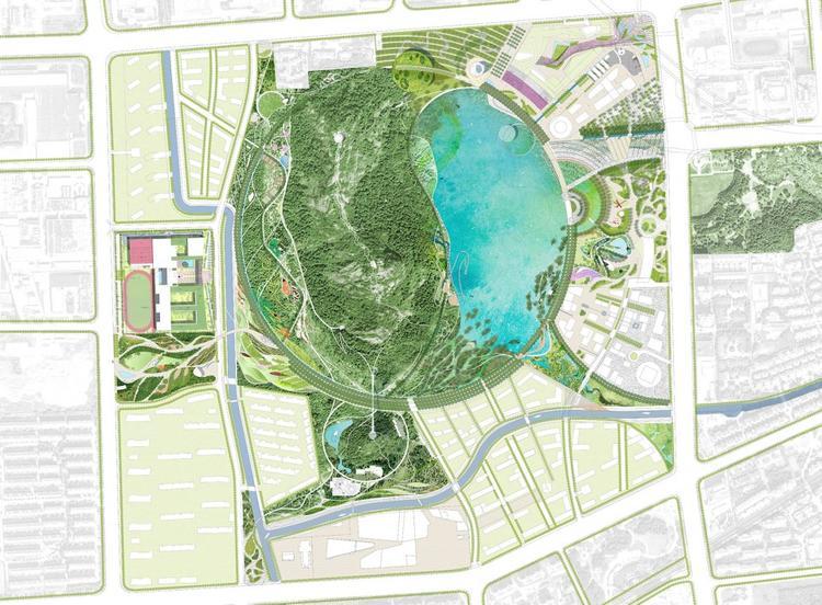 苏州将有一座科技馆,造型像一条绿色的飘带